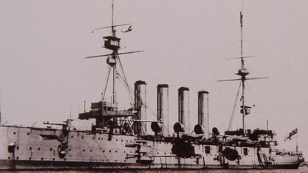 George Dolman history in WW1 in the Royal Navy. Photo shows HMS Cressy.