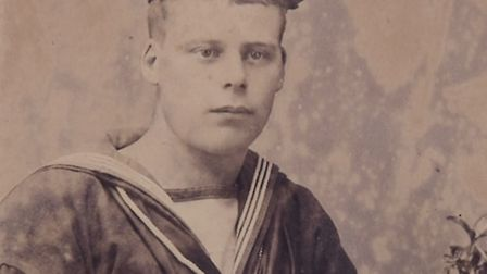 George Dolman history in WW1 in the Royal Navy. Photo shows George Dolman.