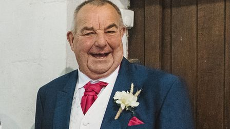 Dennis Dear, 68, who died in a crash at Bluntisham. His family released a favourite photograph of him.