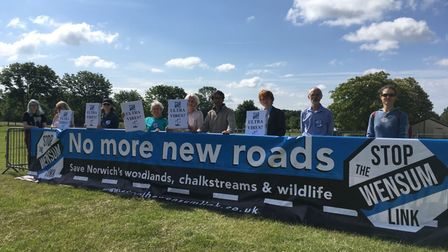 Stop The Western Link campaigners