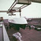 35mm film footageshotduring the 1970s testing of the Hovertrainbetween Earith and Sutton