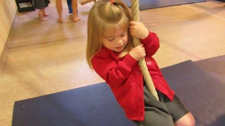 Nursery children from Langley Preparatory School enjoy their first gymnastics lesson. Submitted