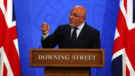 Vaccines minister Nadhim Zahawi, during a media briefing in Downing Street, London, on coronavirus (
