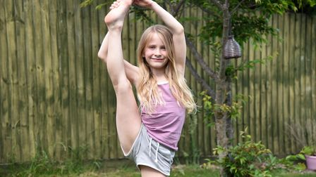 Anaiya Dyer, aged 8 has completed 104 cartwheels in three minutes to raise money for charity Pictur