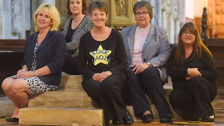 The Rock Choir are performing on November 14th at the King's Lynn Minster. Pictured (from left) Jack