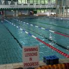 St George's Pool... but no swimming lessons in progress since it was shut in 2020 during Covid emergency