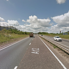 A three vehicle crash has closed part of the A12