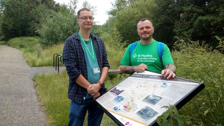 Tristan Peddie iswalking 26 miles along Marriott's Way to raise funds forSt Martins.