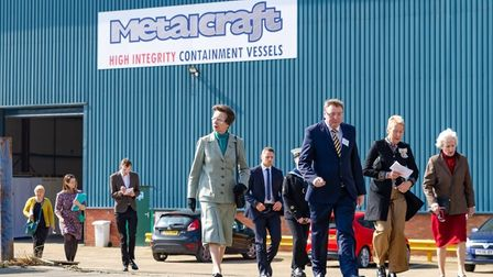 HRH Princess Anne at Stainless Metalcraft Chatteris