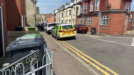 Scenes ofVictoria Road in Great Yarmouth - a day after a body of a woman was found in a flat on Wednesday, June 23.