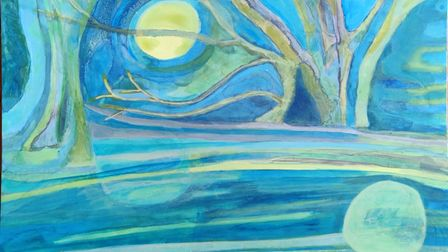 Ruth E Blundell's art is on display at the Babylon Gallery's'Edge of the Fens' exhibition in Ely.