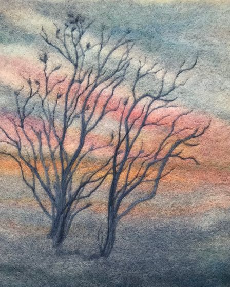 Annie Brown's art is on display at the Babylon Gallery's'Edge of the Fens' exhibition in Ely.