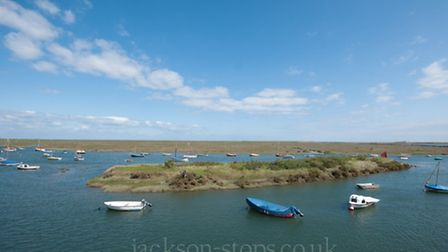 The view from the second highest property to sell, the Malthouse, Burnham Overy Staithe