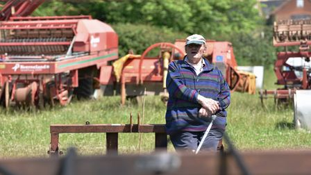 A machinery auction was held at Park Farm near Heydon following the Buxton family's decision to retire from farming