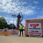 Olympic Park demo for trade union recognition at Amazon