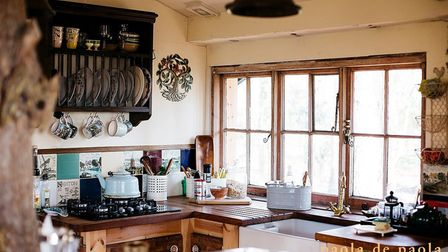 The kitchen inside the treehouse