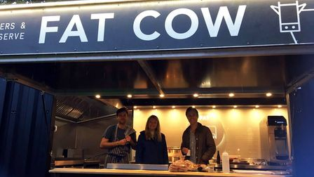 Lucy, Robbie, and Jack Spencer Ashworth are the minds behind the Fat Cow pop-up venue in Fakenham.