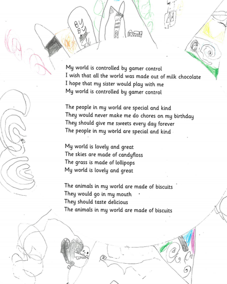 """Ely writer Claudia Lloyd has won a national competition for her """"wonderful"""" poem all about her 'perfect world'."""