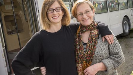 Rachel Hughes-Green and Sarah Hughes-Wade at the Firepit in Wendling. Picture: Matthew Usher.