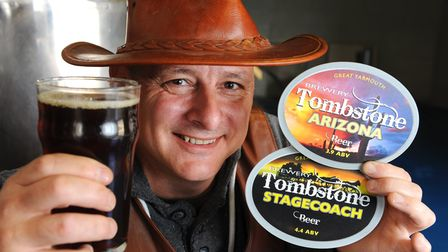Paul Hodgson owner of the Tombstone Brewery in Great Yarmouthat his brewery.