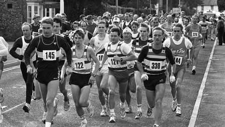 From The Archives WestBeck Row Community Assoc Half Marathon at MildenhallOctober 1991