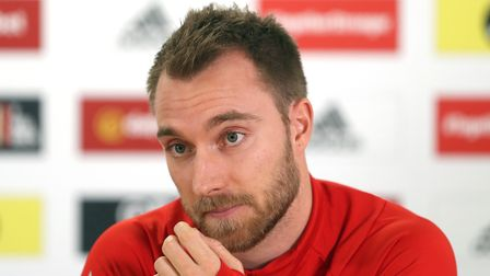 File photo dated 15-11-2018 of Denmark's Christian Eriksen during the press conference at The Cardif