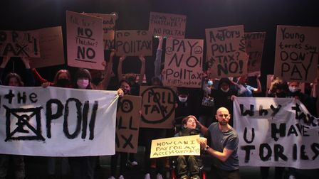 Recreating 1990's poll tax riot for Half Moon youth theatre's 30th anniversary