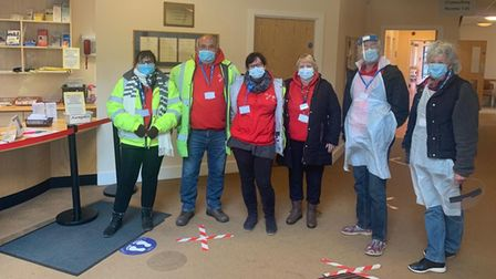 The volunteers from Fakenham Medical Practice, who have helped during the coronavirus vaccination program