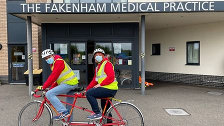 Just two volunteers who have helped out during the Fakenham medical practice vaccine program.