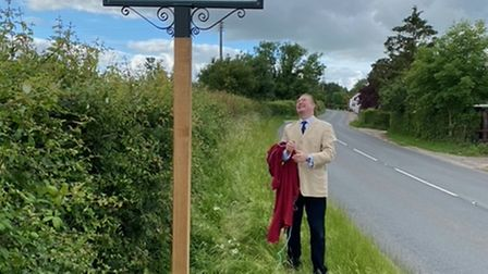 Councillor Ed Connolly after the unveiling at Whinburgh