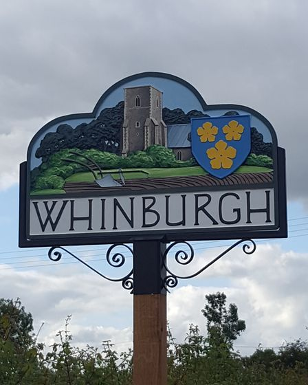 The new sign at Whinburgh