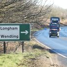 A diversion is in place at the Wendling junction of the A47. Picture: Ian Burt