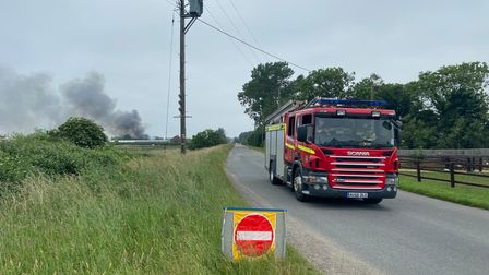 Fire crews went back and forth alongCowle's Drove inHockwold cum Wilton, near Brandon, to take on more water