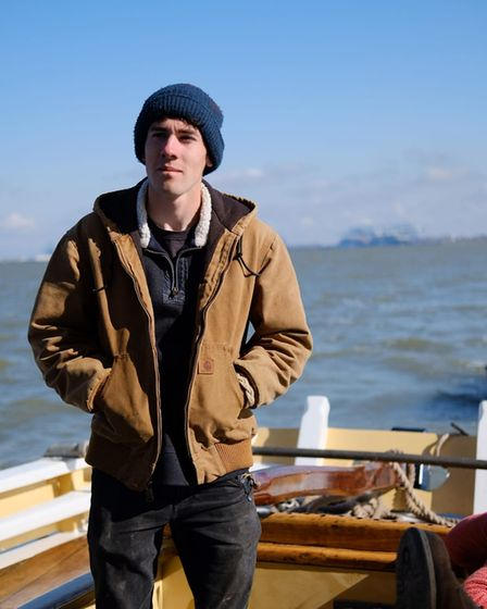 Tom Curtis, 20, is a traditionalshipwright building wooden boats based in Pinmill