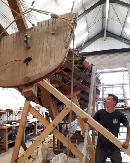 Tom Curtis was an apprentice at the Pioneer Sailing Trust for four years before starting up on his own.