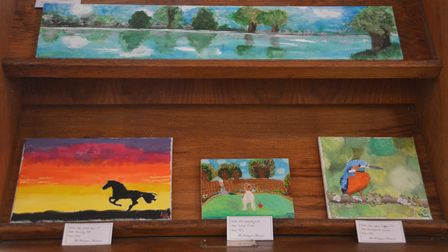 Beautiful paintings created in lockdown on display at All Saints Church in Worlington at the weekend