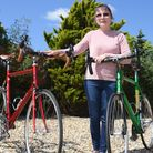 Carolyn Green is selling two cycles hand-builtby her late husband Alan Green
