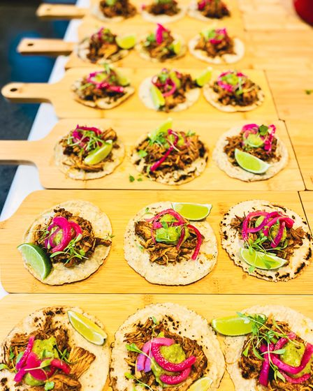 Taco platters laid out for one of the Wandersups supper clubs