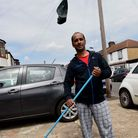 Azad Ali of Shirley Gardens clearing up