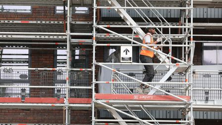 Construction ofJolles House continued in Bromley-by-Bow during Covid