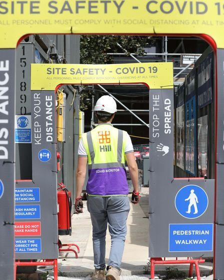 Strict Covid measures at Jolles House construction site