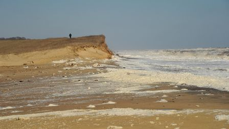 Coastal erosion in Easton Bavents near Southwold. Picture: SARAH LUCY BROWN