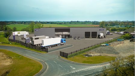 TruckEast's new £5million HQ will be located just off the A14 around5 miles from its current Stowmarket base