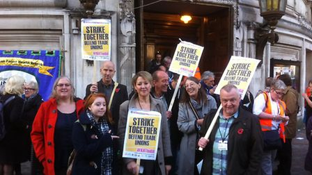 Trade union members from Norfolk travelled to London to lobby MPs to vote against the Trade Union bi