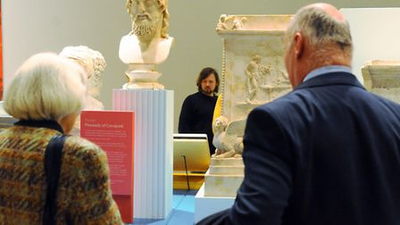 People study the exhibits as Roman Empire: Power and People exhibition officially opens at Norwich C