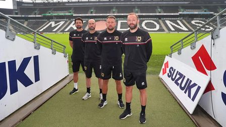 Former Ipswich coach Matt Gill (right) is now at MK Dons