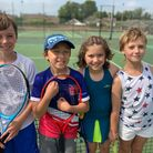 10isAcademy overcomes Bourn Tennis Club to win Cambridgeshire National League match. The 10U mixed team is pictured.