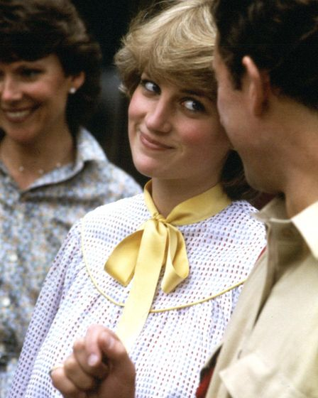 File photo dated 24/07/1981 of Lady Diana Spencer with her future husband Charles, the Prince of Wal