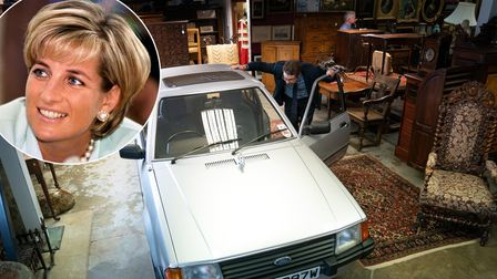 A 1981 silver Ford Escort 1.6L Ghia saloon once owned by the Princess of Wales before going under th