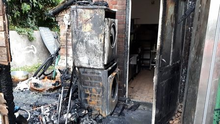 A tumble dryer caused a fire at the Rose and Crown pub in Harpley earlier this month.